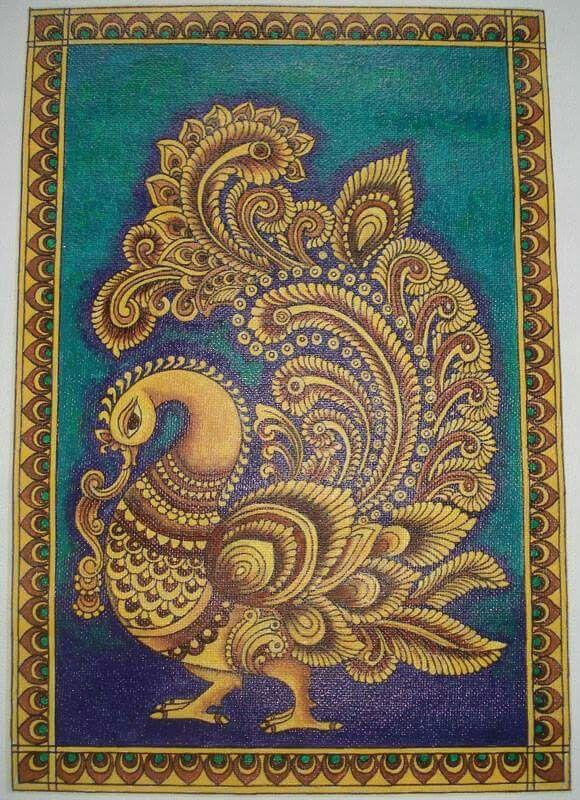 Kalamkari peacock