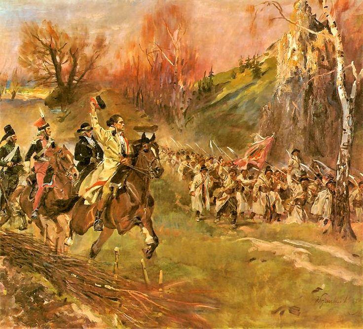 Войцех Коссак обратился к теме Рацлавиц, где польские повстанцы разбили русскую армию Поляки против русских, косы против пушек: fon_eichwald