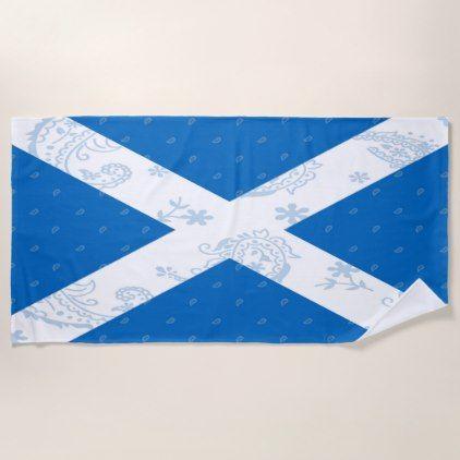 Scotland Flag Beach Towel - home decor design art diy cyo custom