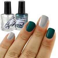 Philadelphia Eagles Midnight Green-Silver 2-Pack Nail Polish! Glam while watching the games