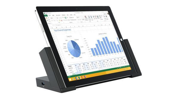 Transform your Surface Pro 3 tablet into a complete desktop workstation with this docking station. Easily connect an HD monitor and your favorite accessories via multiple inputs and five USB ports.