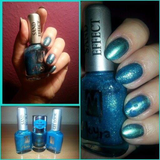 Blue nails  -essence Aquatix 05 Finding Dori -Moyra Sand Effect No.853 -Moyra Gel Look No.914 #nailart #shortnails #nailartwithoutphotoshop