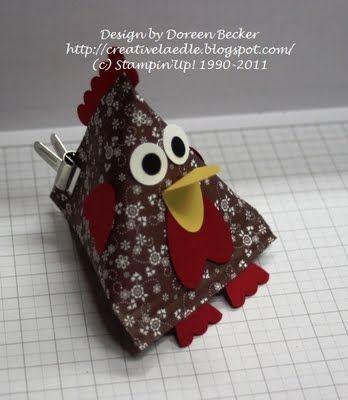 Creativelädle: Ein Huhn