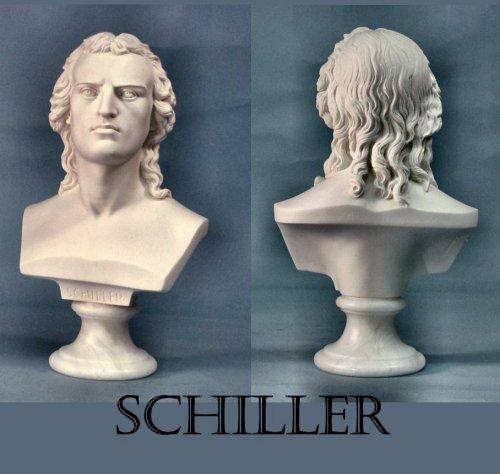 schiller bust statue german poet philosopher playwright