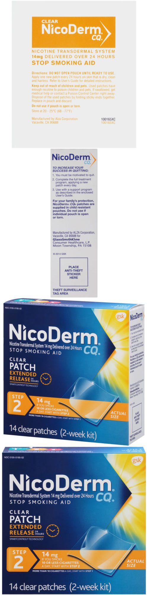 Patches: Nicoderm Cq Step 2 Stop Smoking Aid Nicotine Patch, 14Mg, 14 Clear Patches BUY IT NOW ONLY: $58.47