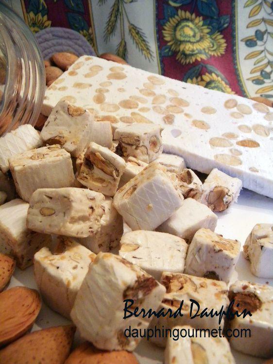 Le nougat de Montélimar est un nougat à pâte aérée obtenue uniquement au moyen d'albumine d'œuf (en poudre) et/ou de blanc d'œuf de poule. Depuis un décret du 12 mars 1996, il doit contenir au moins 30% d'amandes douces entières de l'amandier (sans pistaches)...