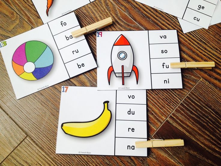 Les syllabes - quelle syllabe entends-tu? Les élèves doivent identifier l'image…