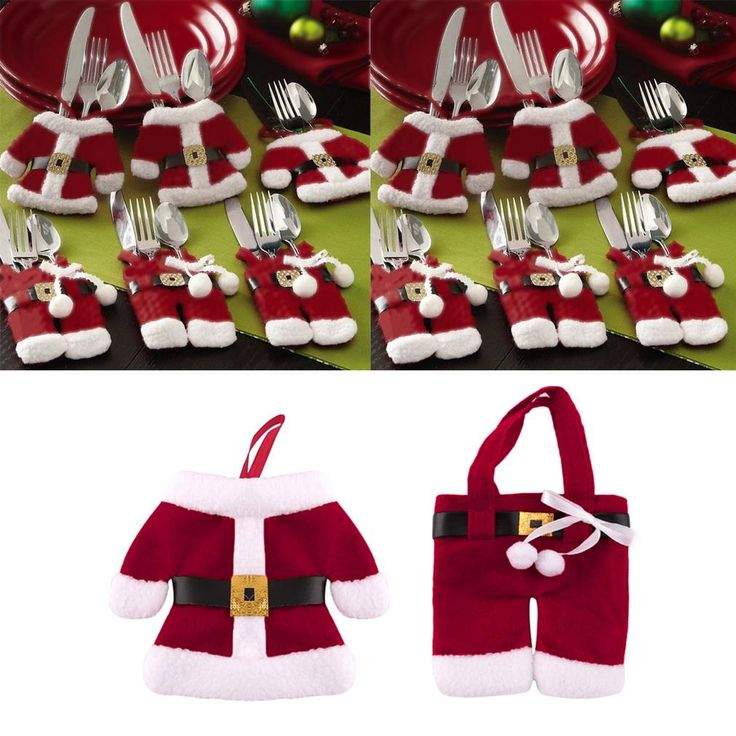 Kitchen Cutlery Suit Silverware Holders Pockets Knifes Folks Bag Snowman Shaped Christmas Party Decoration Supplies #clothing,#shoes,#jewelry,#women,#men,#hats,#watches,#belts,#fashion,#style