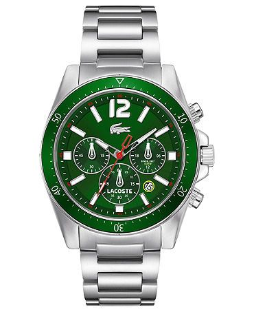 I love this Lacoste watch, but its an occasion watch that you'd wear with something that goes with it; preferably green as this is one loud watch!!!