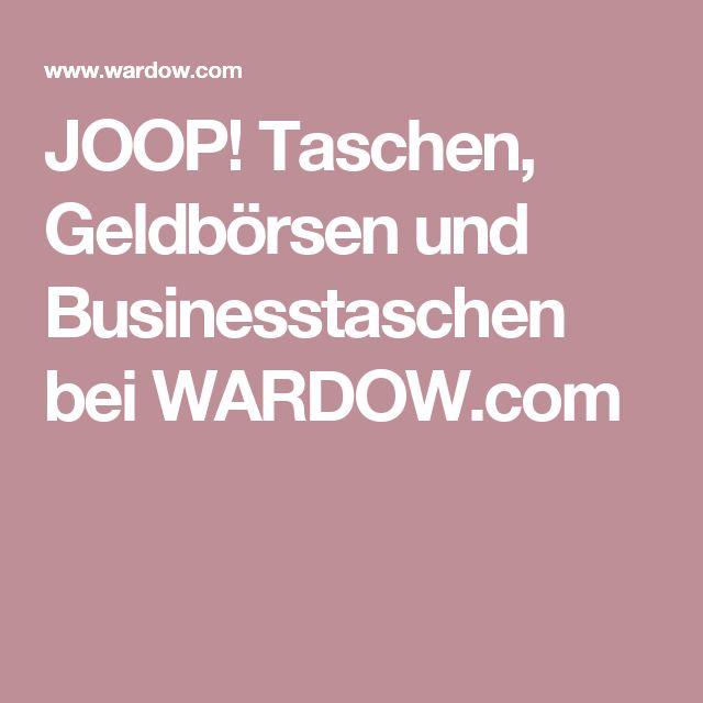 JOOP! Taschen, Geldbörsen und Businesstaschen bei WARDOW.com