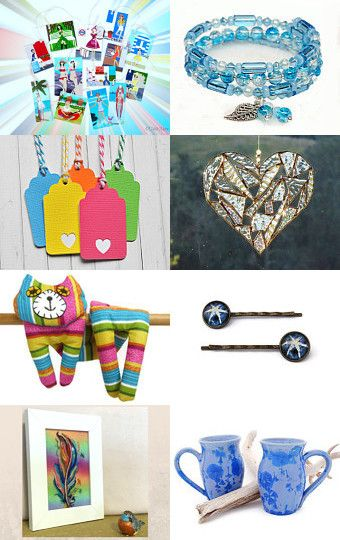 Rainbows and Blue by Mallori Packer on Etsy--Pinned with TreasuryPin.com
