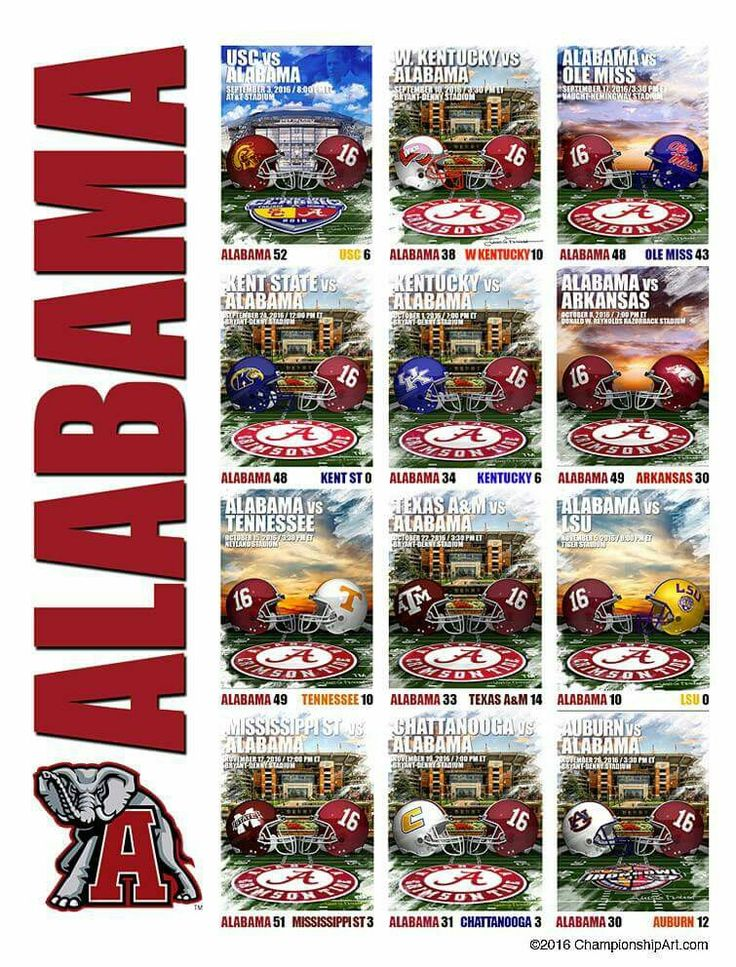 Alabama Crimson Tide 2016 Regular Season