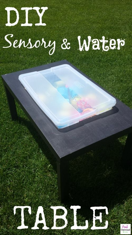 DIY Sensory and Water Table - Pink Oatmeal
