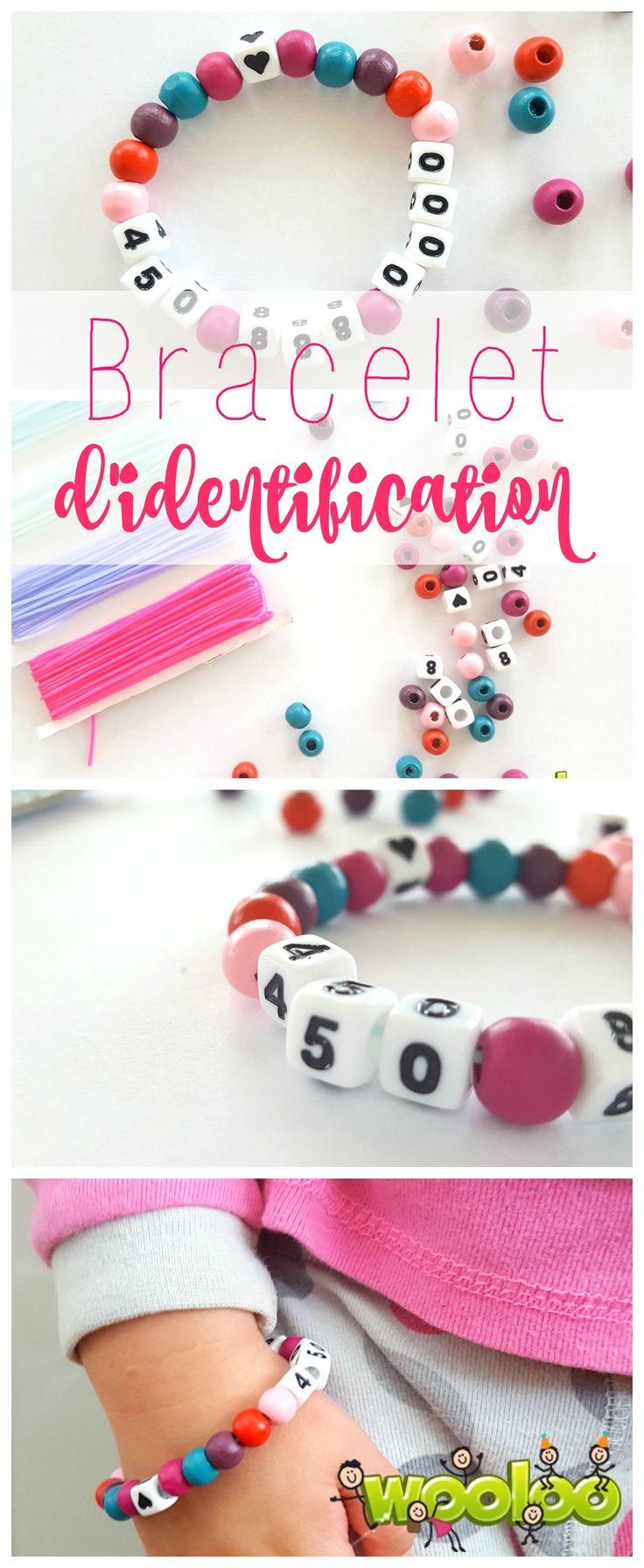 Voici une idée géniale pour les jeunes enfants qui ne connaissent pas encore leur numéro de téléphone: le bracelet d'identification