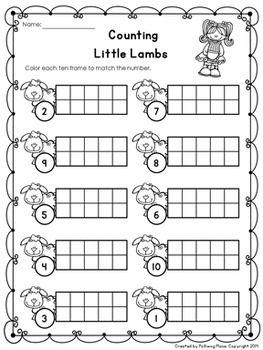 Nursery Rhymes - Ten Frame Page - FREE