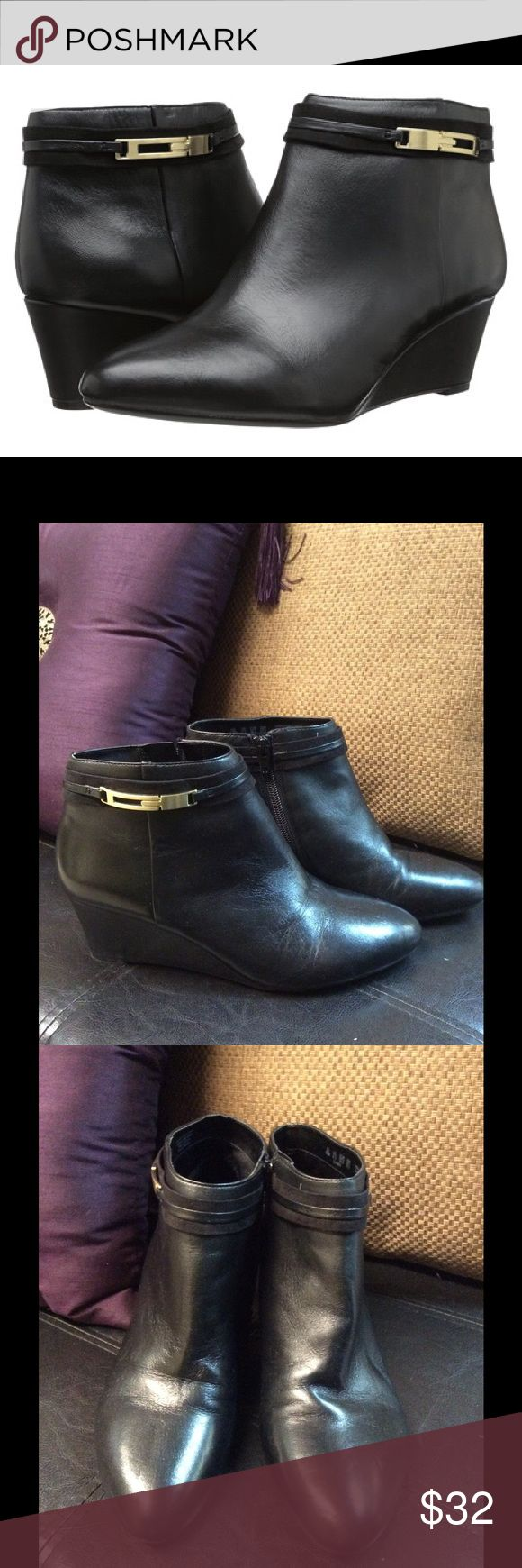 Naturalizer Black Booties Gorgeous boots in excellent condition. Worn only a handful of times. No stains or scuffs marks. Perfect with any outfit. Naturalizer Shoes Ankle Boots & Booties