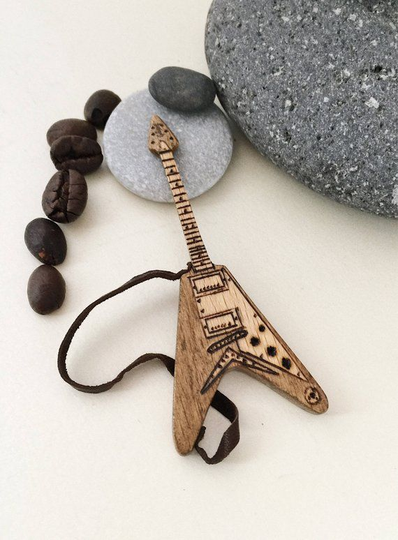 Boyfriend gifts Electric Guitar 3″ Gift for music lover Personalized gift idea for musicians Guitar