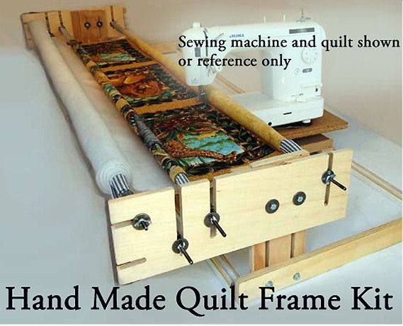 The frame is designed by an artisan quilter for Sitting comfortably while you work. It is hand made from both new and recycled materials. I make a few frames each month to share with other quilters. These are the same kits I use in my quilting school.  The quilt frame is the perfect solution for the handy person to build their own track and carriage machine quilting frame with the components provided and a few extra items available at a home center or hardware store.   This frame is being…