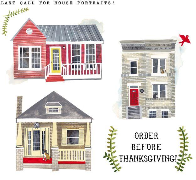 Cute - dearfriendrebekkaseale.blogspot.comDiy Ideas, Design Inspiration, Rebekka Seals, Rebekkaseale2Jpg 625575, Gift Ideas, House Portraits, House Prints, Custom Illustration, Custom House