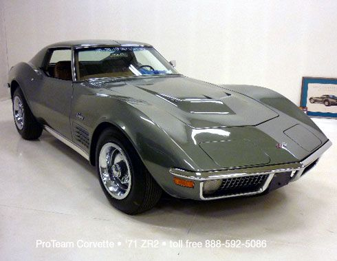 Classic Corvette for Sale • 1971 ZR2 • 1037C