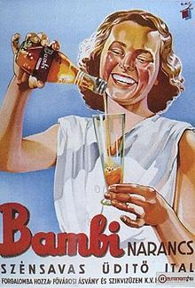 A Bambi üdítő reklámplakátja.