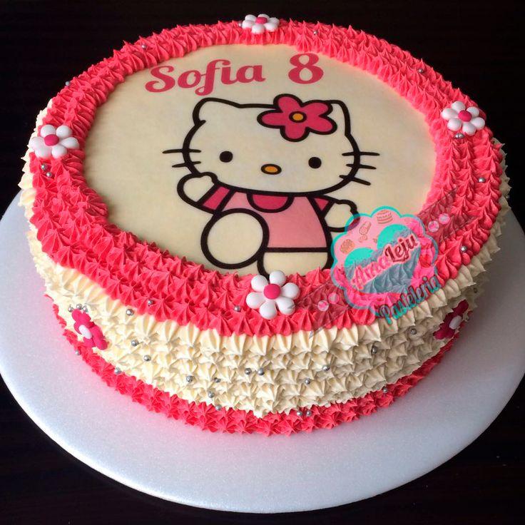 Torta Hello Kitty Realiza tu pedido por; WhatsApp: 3058556189, fijo 8374484  correo info@amaleju.com.co Síguenos en Twitter: @amaleju / Instagram: AmaLeju