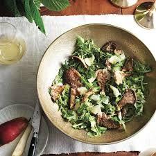 Image result for mushroom salad with parmesan and arugula