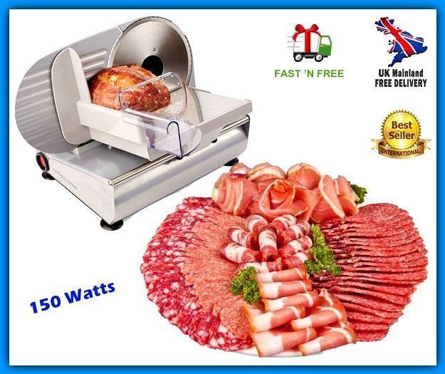Electric Food Meat Cutter Machine Cheese Bread Ham Salami Home Commercial Slicer