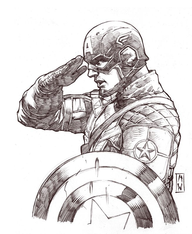 Captain America Sketch by AdmiraWijaya.deviantart.com on @deviantART - Visit to grab an amazing super hero shirt now on sale!