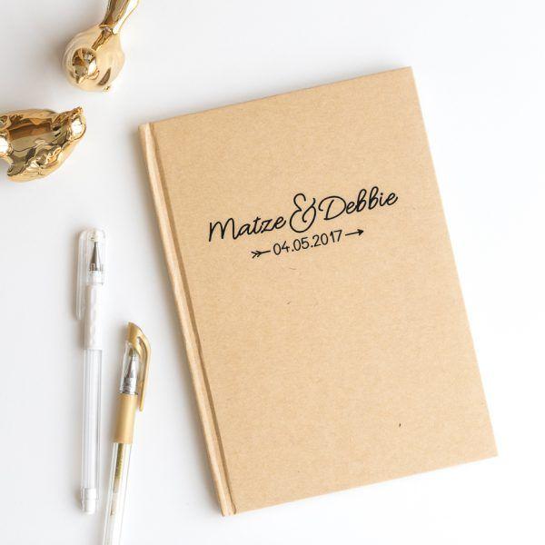 INDIVIDUALISIERBARES Notizbuch mit Namen und Datum • Onlineshop www.prettypott.de #partner #notizbuch