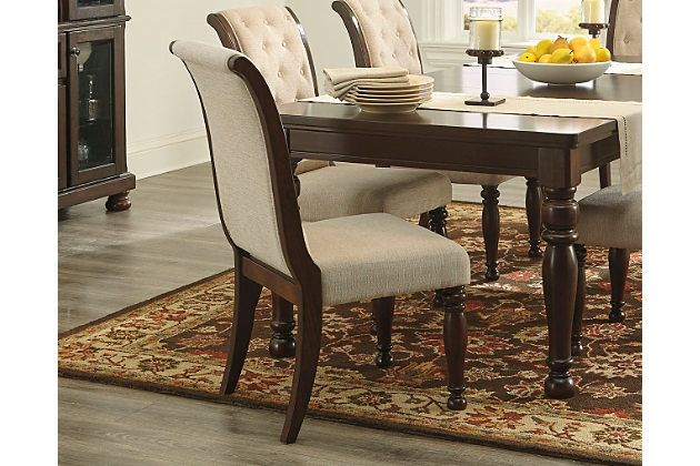 brown porter dining room chair set of 2 by ashley furniture