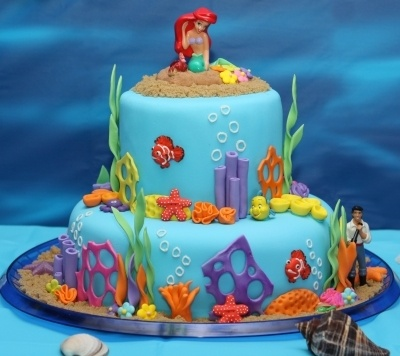246 best Little Mermaid Cakes images on Pinterest Ariel cake