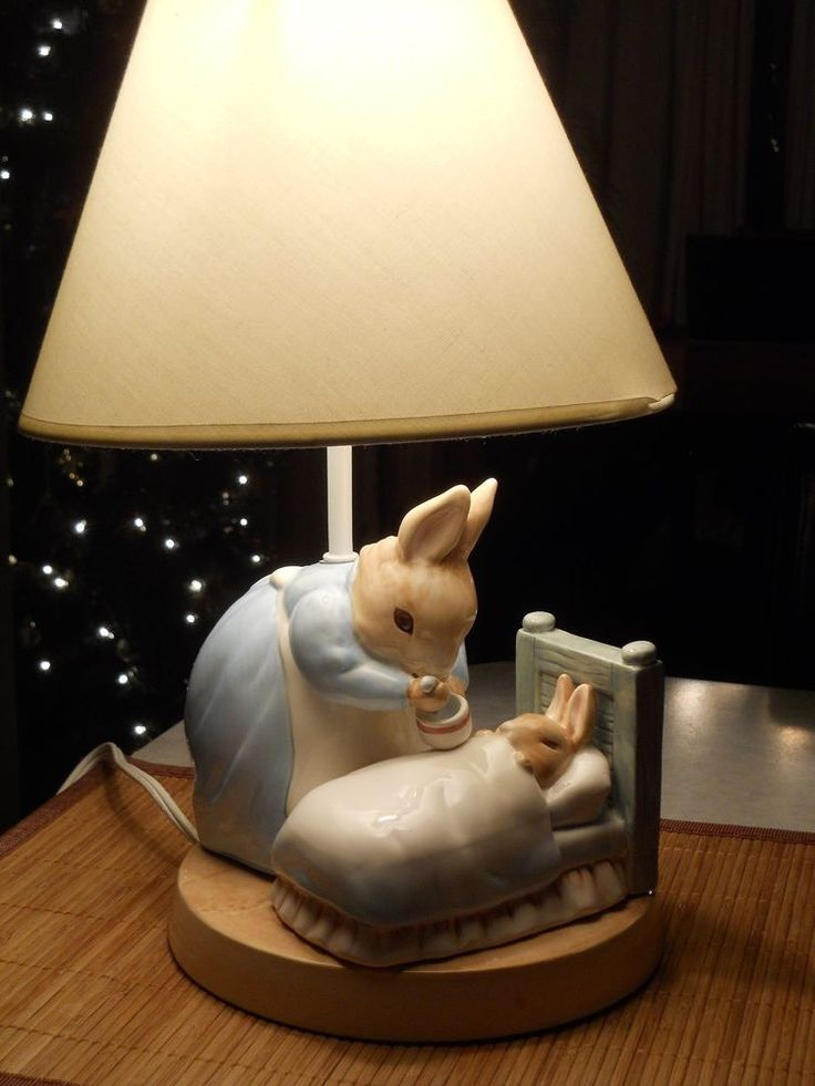 Beatrix Potter's Peter Rabbit Nursery Lamp  #FrederickWarneCharpente