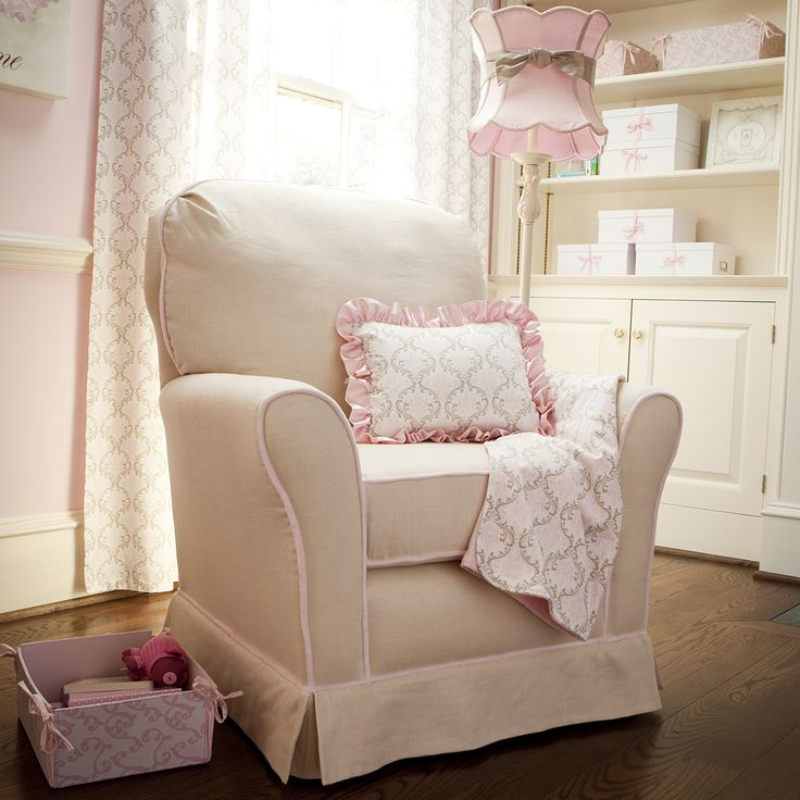 Pink and Taupe Damask Nursery Decor #carouseldesigns