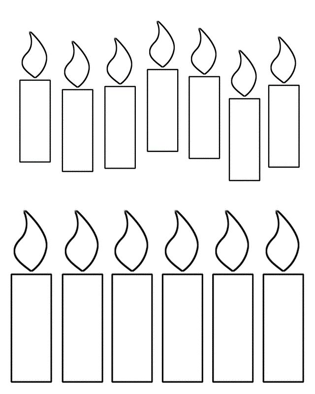 Advent Candles Coloring Sheet