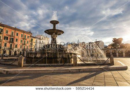 Garibaldi square at sunset, Sulmona