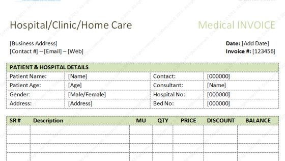 Dental Invoice Template | Excel | PDF | Word (.doc)