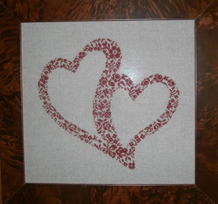 Double Hearts cross stitch chart by Rovaris #Rovaris