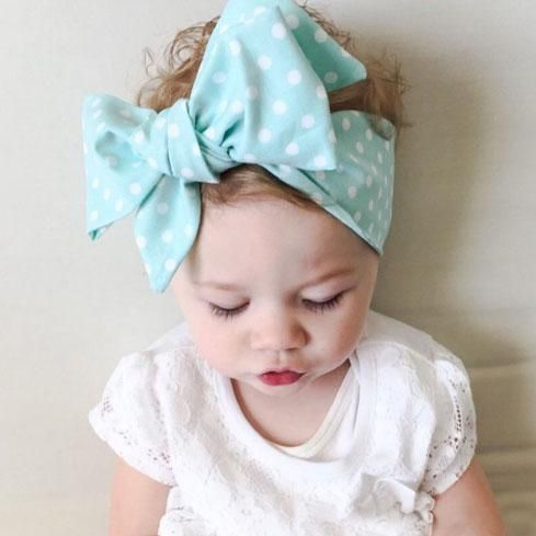 Big Bow Cotton Turban-Style Hairband for Girls and Babies