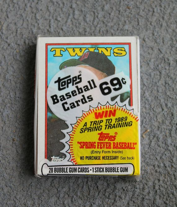Baseball Cards, Topps, Twins, 1988, 28 Bubble Gum Cards, 1 Stick Bubble Gum, Collectibles by attictreasuresbyjudy. Explore more products on http://attictreasuresbyjudy.etsy.com