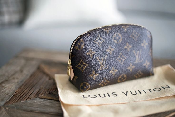 Little Louis Vuitton makeup bag.