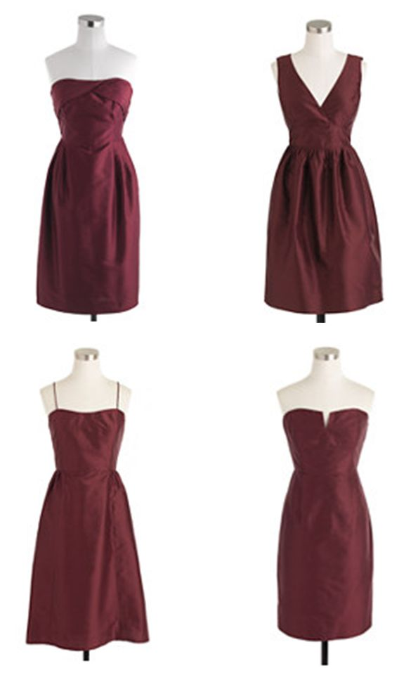 Deep Garnet Bridesmaid Dresses From J Crew Burgundy