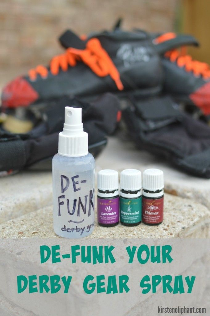 Two great tips to clean your roller derby gear and eliminate bacteria and icky smells! It also works for the inside of shoes or yoga mats.