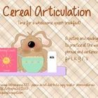 Freebie: Cereal Articulation from Speech-Language Pathologizing!