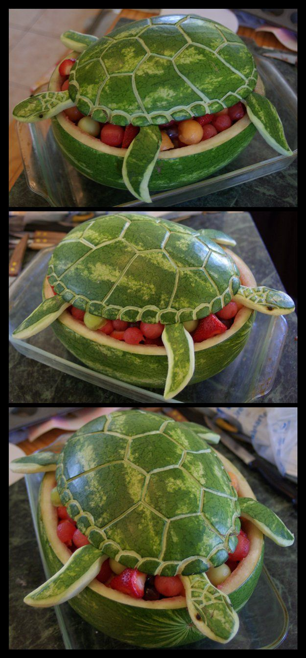 Creative and Cheap Beach Party Ideas | Watermelon Sea Turtle by DIY Ready at diyready.com/...