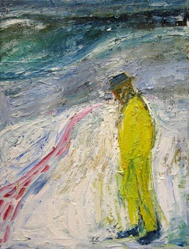 Man Walking in Snow, c.1999 - Billy Childish - WikiArt.org