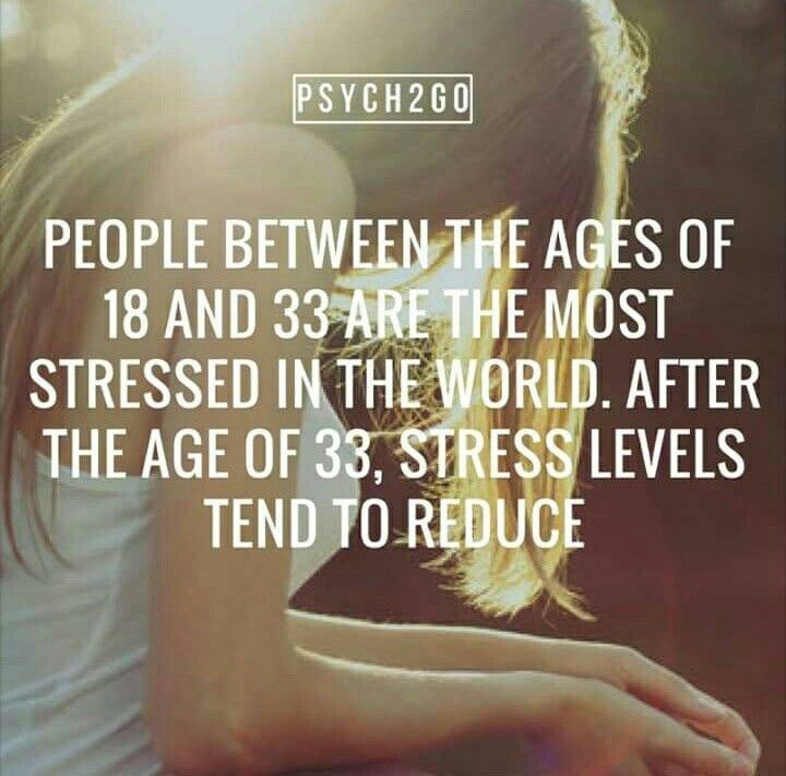 I don't believe this is true. I think by age 33 most of us have learned how to live with the stress, and also by that time most of us grown tired of dramatically overreacting to every challenge that presents itself.