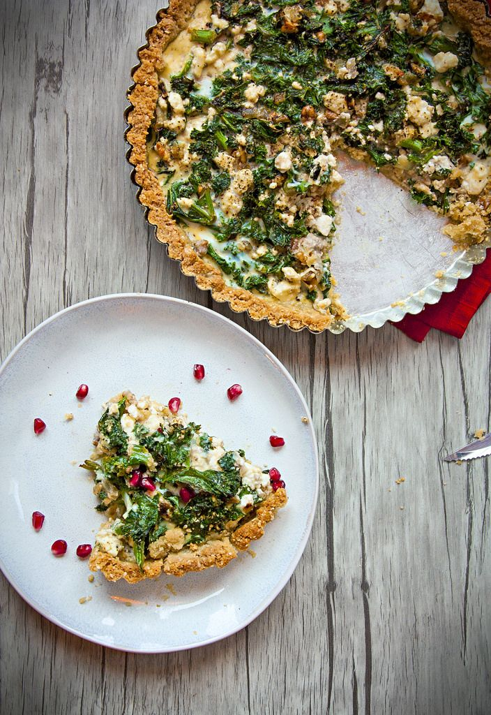 Green Kale Pie with Feta Cheese - Perfect for making a healthier Christmas