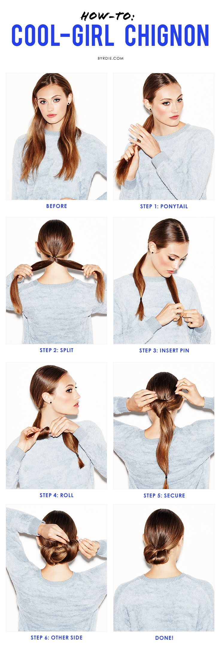 A step-by-step guide to mastering the low chignon like a cool girl.
