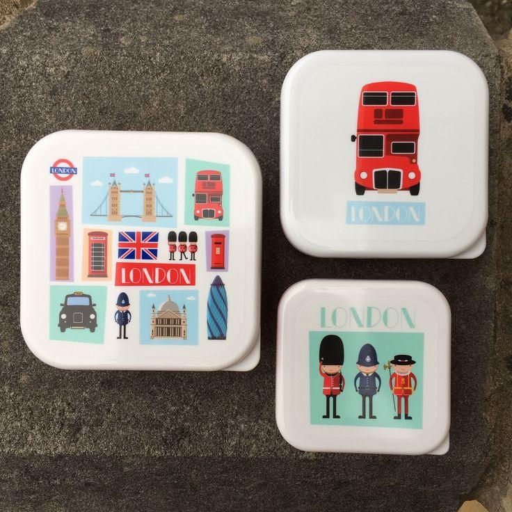 Fiambreras exclusivas de diseño Londinense. Ideales para las meriendas en el parque o los almuerzos en la oficina. #fiambreras #tupperwares #londres